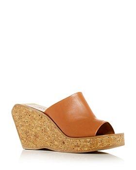 Clergerie - Women's Emilia Platform Wedge Slide Sandals