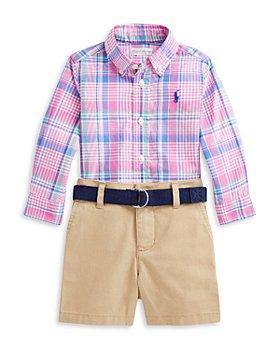 Ralph Lauren - Boys' Plaid Shirt and Shorts Set - Baby