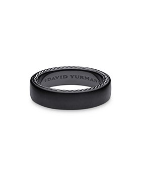 David Yurman - Streamline® Black Titanium & Sterling Silver Band Ring
