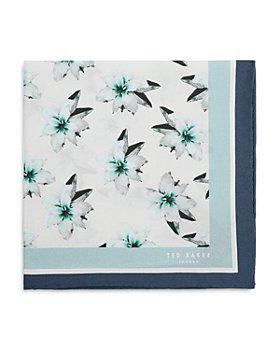 Ted Baker - Floral Print Silk Pocket Square