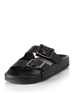 Balenciaga WOMEN'S MALLORCA BUCKLE SLIDE SANDALS