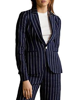 Ralph Lauren - Pinstriped Linen Blazer
