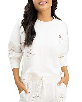Splendid - Love Me Floral Embroidered Sweatshirt