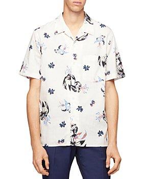 PS Paul Smith - Floral Print Short Sleeve Regular Fit Camp Shirt