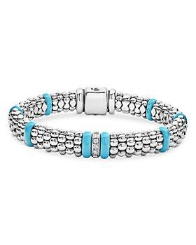 LAGOS - Blue Caviar & Diamond Sterling Silver Bracelet