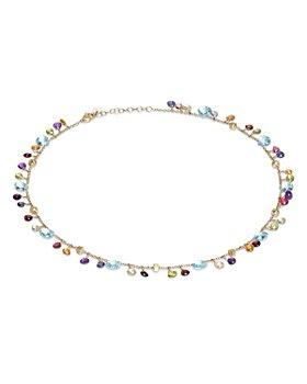 """Marco Bicego - 18K Yellow Gold Paradise Mixed Gemstone Necklace, 16.5"""""""