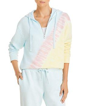 AQUA - Tie Dyed Cropped Hoodie - 100% Exclusive