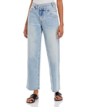 Pistola - Bobbie Asymmetric Straight Jeans in Light Blue