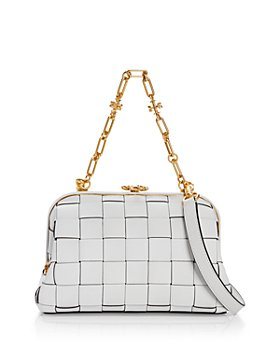 Tory Burch - Cleo Small Woven Leather Bag