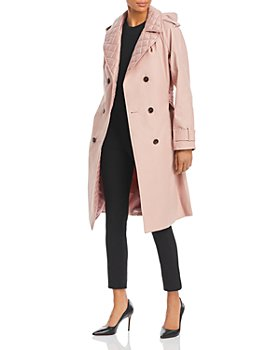 kate spade new york - Quilted Trim Hooded Trench Coat