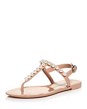 Stuart Weitzman - Women's Goldie Embellished Jelly Sandals