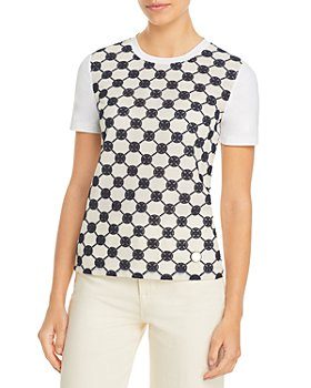 Tory Burch - Logo Lace Front Tee