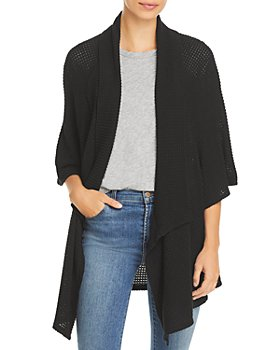 Status by Chenault - Textured Cascade Front Cardigan