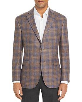 Jack Victor - Textured Plaid Regular Fit Sportcoat