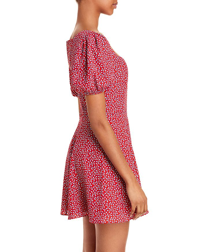 FRENCH CONNECTION Dresses ELAO FLORAL PRINT PUFF SLEEVE DRESS