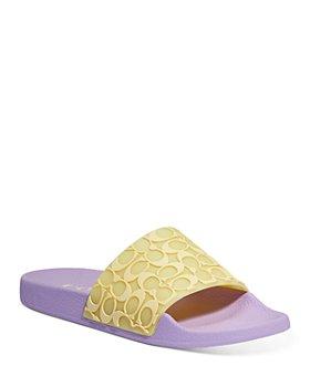 COACH - Women's Udele Rubber Slide Sandals