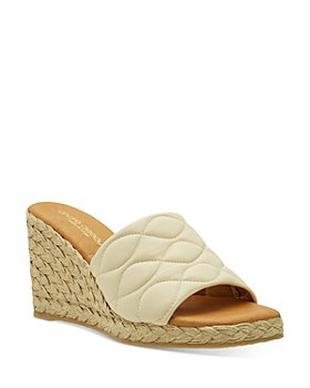 Andre Assous - Women's Analise Square Toe Quilted Leather Espadrille Wedge Sandals