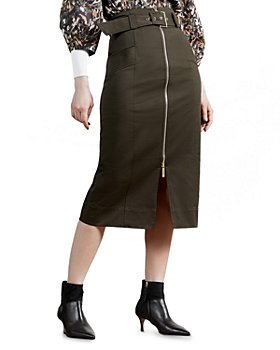 Ted Baker - Zippered Pencil Skirt