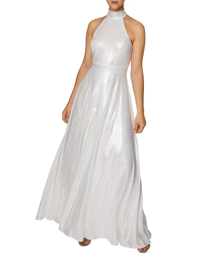 Laundry by Shelli Segal - Iridescent Sleeveless Halter Gown