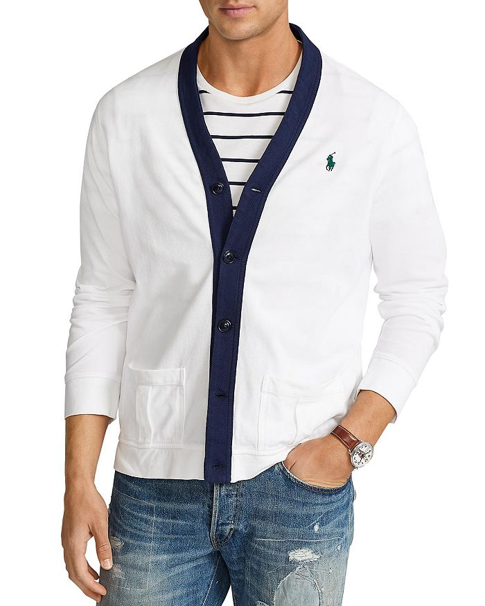 Polo Ralph Lauren - Varsity Style Mesh Cardigan - 100% Exclusive