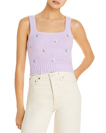 English Factory - Embroidered Sweater Tank