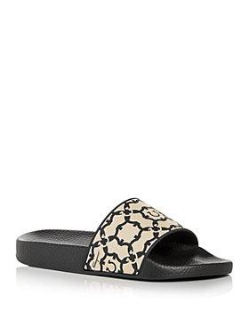 Salvatore Ferragamo - Women's Logo Print Slide Sandals