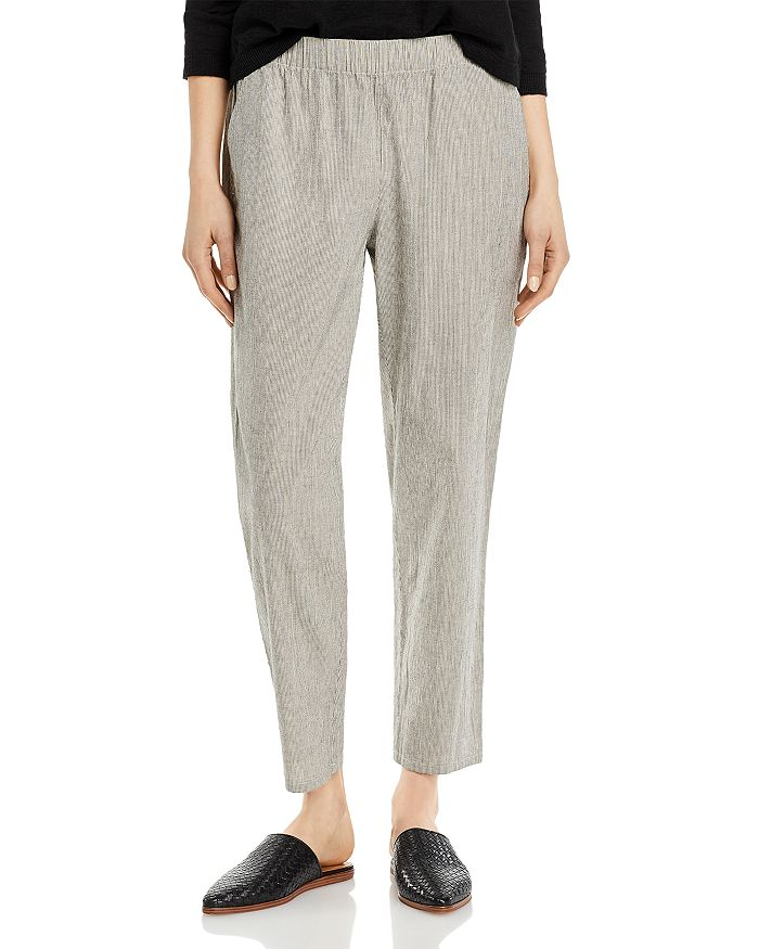 Eileen Fisher - Micro Striped Ankle Pants