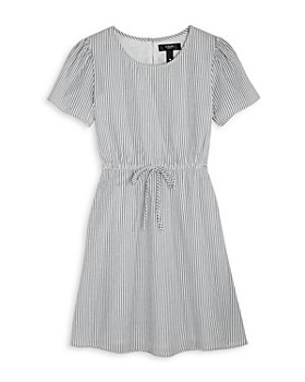 AQUA - Girls' Seersucker Poplin Dress, Big Kid - 100% Exclusive