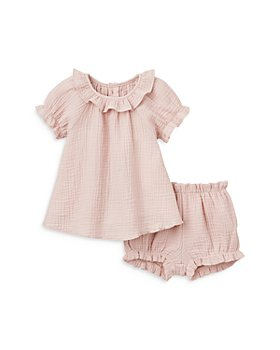 Elegant Baby - Girls' Muslin Dress & Bloomers Set - Baby