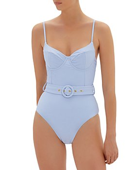 Jonathan Simkhai - Noa Ribbed Belted Bustier One Piece Swimsuit