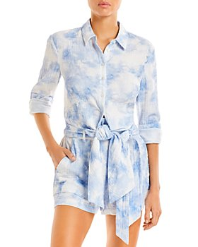 Jonathan Simkhai - Anabella Tie Dye Cover-Up Top & Nina Tie Dye Paperbag Waist Cover-Up Shorts