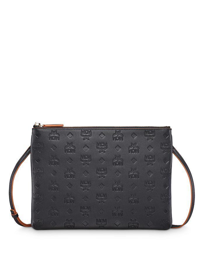 MCM - Klara Embossed Leather Crossbody