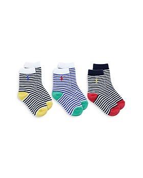 Ralph Lauren - Boys' St. James Stripe Socks, 3 Pack - Baby