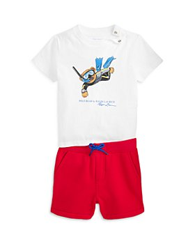 Ralph Lauren - Boys' Scuba Bear Tee & Fleece Shorts Set - Baby