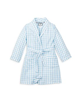Petite Plume - Unisex Gingham Robe - Little Kid, Big Kid