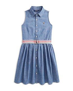 Ralph Lauren - Girls' Cotton Chambray Shirtdress - Little Kid, Big Kid