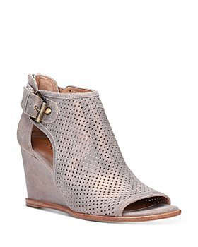 Donald Pliner - Women's Perforated Open-Toe Wedge Heel Booties
