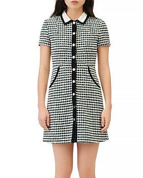 Maje - Renaga Collared Tweed Mini Dress