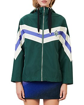 Maje - Baneli Striped Windbreaker Jacket