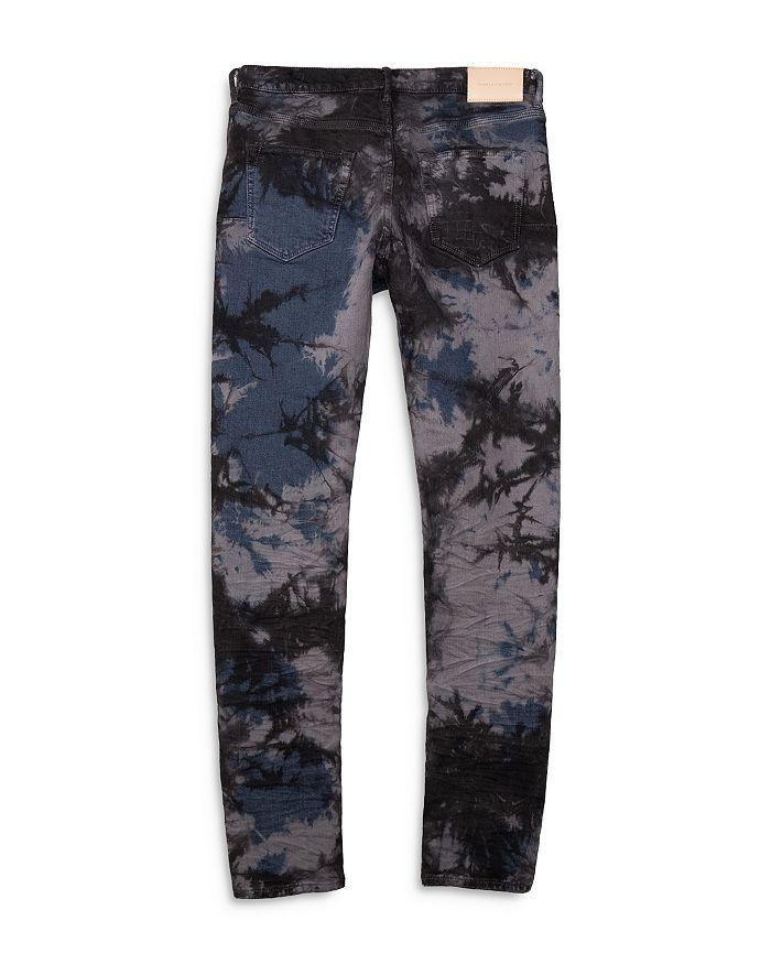 PURPLE BRAND Jeans SLIM FIT TIE-DYED JEANS IN INDIGO GREY MARBLE