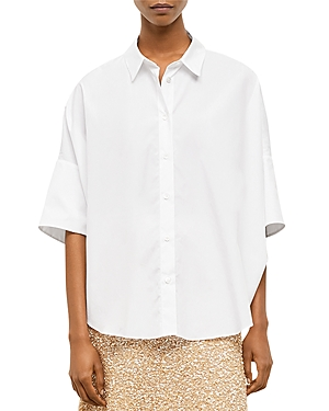 Nara Oversized Cotton Button Down Shirt