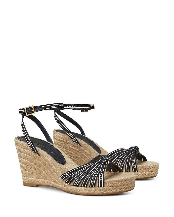 Tory Burch - Women's Tory Ribbon Espadrille Wedge Sandals