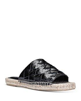 Donald Pliner - Women's Nyce Woven Leather Espadrille Slide Sandals