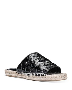Donald Pliner Women's Woven Leather Espadrille Slide Sandals