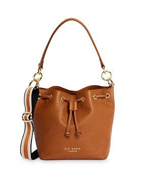 Ted Baker - Branded Strap Leather Bucket Bag