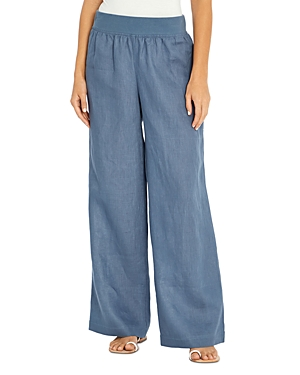 Three Dots Linen Wide Leg Pants
