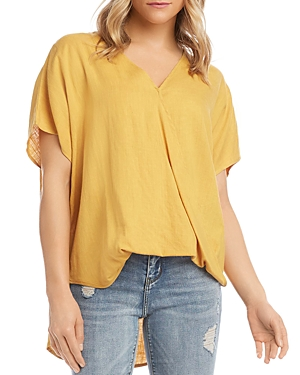 Karen Kane HIGH/LOW CROSSOVER TOP