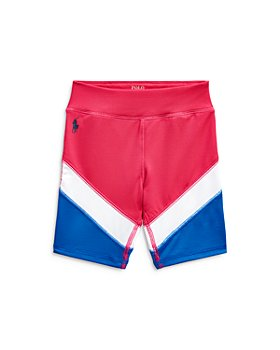 Ralph Lauren - Girls' Color Block Bike Shorts - Little Kid