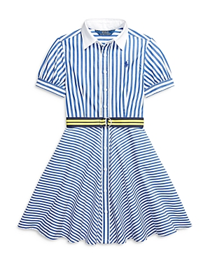 Ralph Lauren POLO RALPH LAUREN GIRLS' MIXED STRIPE DRESS - BIG KID