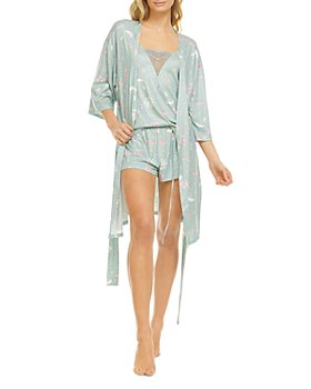 Flora Nikrooz - Floral Knit Three Piece Pajama Set